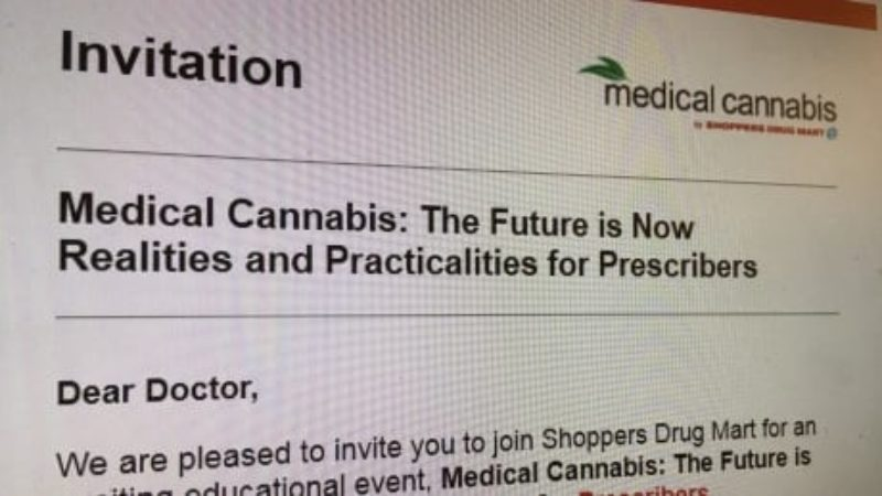 shoppers-drug-mart-invitation-to-doctors-for-medical-cannabis-event
